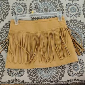 NWOT  fringe suede-like skirt